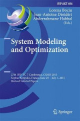 Omslag - System Modeling and Optimization 2016