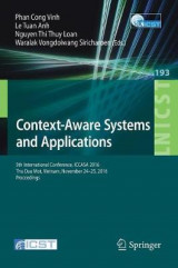 Omslag - Context-Aware Systems and Applications 2017