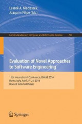 Omslag - Evaluation of Novel Approaches to Software Engineering 2016