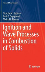 Omslag - Ignition and Wave Processes in Combustion of Solids