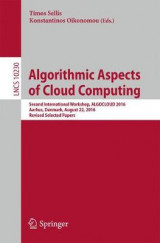 Omslag - Algorithmic Aspects of Cloud Computing 2017