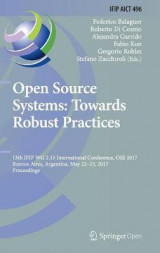 Omslag - Open Source Systems: Towards Robust Practices 2017
