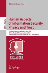 Omslag - Human Aspects of Information Security, Privacy and Trust 2017