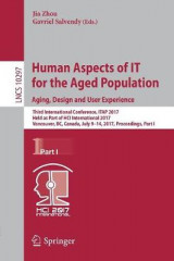 Omslag - Human Aspects of it for the Aged Population. Aging, Design and User Experience 2017: Part I