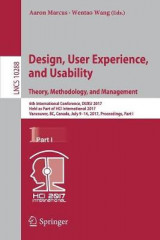 Omslag - Design, User Experience, and Usability: Theory, Methodology, and Management 2017: Part I