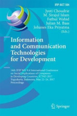 Omslag - Information and Communication Technologies for Development 2017