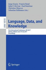 Omslag - Language, Data, and Knowledge