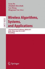 Omslag - Wireless Algorithms, Systems, and Applications 2017