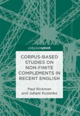 Omslag - Corpus-Based Studies on Non-Finite Complements in Recent English