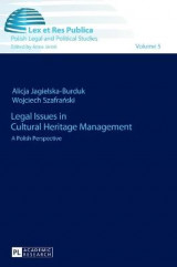 Omslag - Legal Issues in Cultural Heritage Management