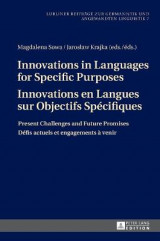 Omslag - Innovations in Languages for Specific Purposes - Innovations en Langues sur Objectifs Specifiques