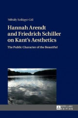 Omslag - Hannah Arendt and Friedrich Schiller on Kant's Aesthetics