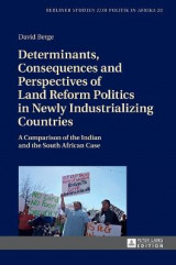Omslag - Determinants, Consequences and Perspectives of Land Reform Politics in Newly Industrializing Countries
