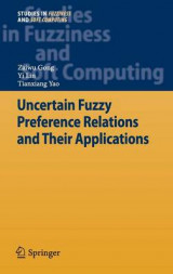 Omslag - Uncertain Fuzzy Preference Relations and Their Applications