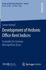Omslag - Development of Hedonic Office Rent Indices 2016