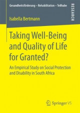 Omslag - Taking Well-Being and Quality of Life for Granted?