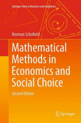 Omslag - Mathematical Methods in Economics and Social Choice
