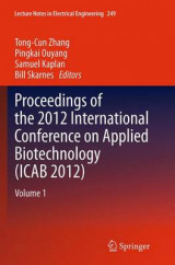Omslag - Proceedings of the 2012 International Conference on Applied Biotechnology (ICAB 2012): Volume 1