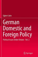 Omslag - German Domestic and Foreign Policy