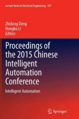 Omslag - Proceedings of the 2015 Chinese Intelligent Automation Conference