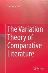 Omslag - The Variation Theory of Comparative Literature