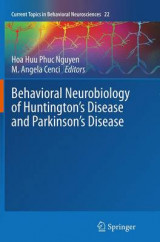 Omslag - Behavioral Neurobiology of Huntington's Disease and Parkinson's Disease