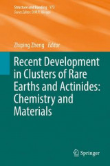 Omslag - Recent Development in Clusters of Rare Earths and Actinides: Chemistry and Materials