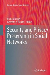 Omslag - Security and Privacy Preserving in Social Networks