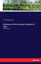 Omslag - Dictionary of the Economic Products of India