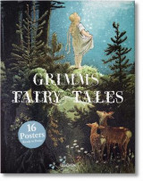 Omslag - Grimm`s fairy tales print set. 16 prints in a box