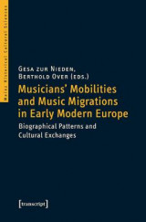 Omslag - Musicians' Mobilities and Music Migrations in Early Modern Europe