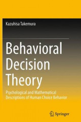 Omslag - Behavioral Decision Theory