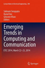 Omslag - Emerging Trends in Computing and Communication