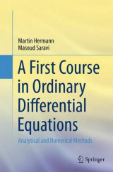 Omslag - A First Course in Ordinary Differential Equations