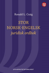 Omslag - Stor norsk-engelsk juridisk ordbok = Norwegian-English law dictionary : with English-Norwegian index