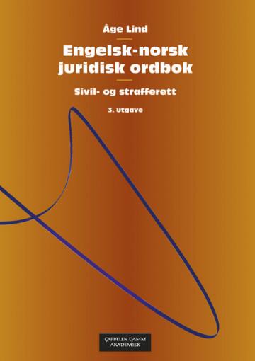 Bilde av Engelsk-norsk Juridisk Ordbok