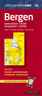 Omslag - Bergen bykart/city map (CK 62)
