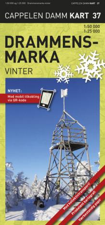 kart drammensmarka Drammensmarka vinter turkart (CK 37) (Kart, falset)   Turkart  kart drammensmarka