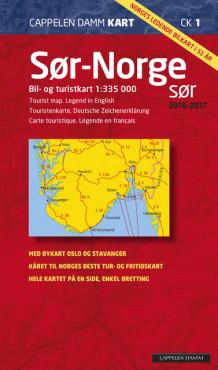 sør norge kart norge cappelen CK 1 Sør Norge sør f 2016 2017 av Cappelen Damm kart (Kart, falset  sør norge kart norge cappelen