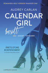 Omslag - Calendar Girl Besatt. juli, august, september (bok 3). Reklamepocket