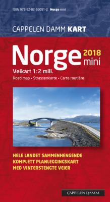 cappelen kart norge Norge mini brettet 2018 av Cappelen Damm kart (Kart, falset  cappelen kart norge