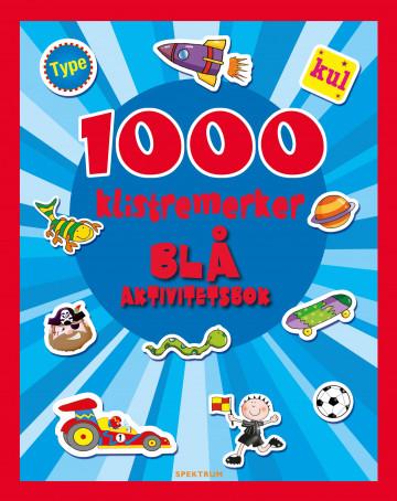 Bilde av 1000 Klistremerker. Blå Aktivitetsbok