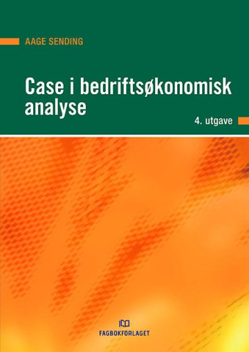 Bilde av Case I Bedriftsøkonomisk Analyse