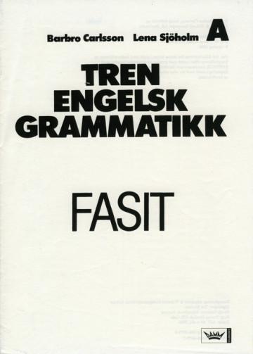 Bilde av Tren Engelsk Grammatikk, Fasit Hefte A