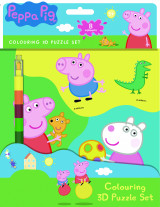 Omslag - Peppa Pig - Colouring 3D Puzzle set