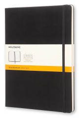 Omslag - Moleskine Extra Large Ruled Notebook Hard Black