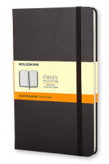 Omslag - Moleskine Large Ruled Hardcover Notebook Black