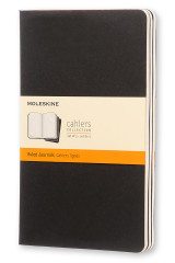 Omslag - Moleskine Ruled Cahier L - Black Cover (3 Set)