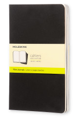 Omslag - Moleskine Plain Cahier L - Black Cover (3 Set)