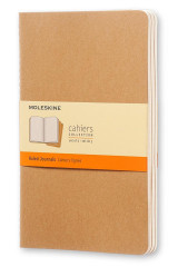 Omslag - Ruled journals. Cahier. Linjert. Kraft cover. Stort format. Moleskine